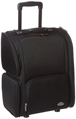 Craft Accents Soft-Sided Professional Rolling Makeup Case, All Black, 176 Ounce by Craft Accents