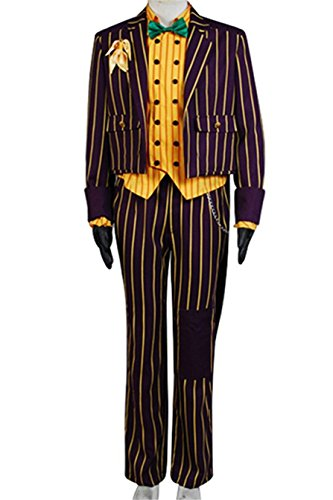 TISEA Halloween Joker Cosplay Costume Outfit (L)