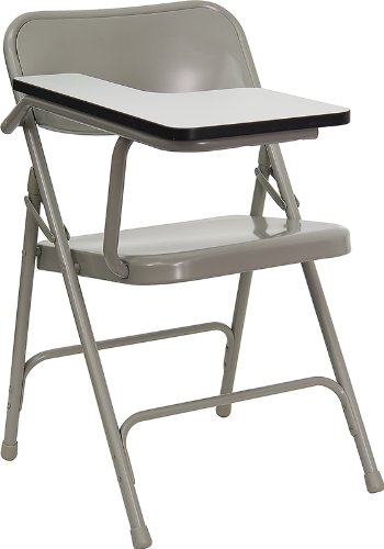 Flash Furniture Premium Steel Folding Chair with Right Handed Tablet Arm by Flash Furniture