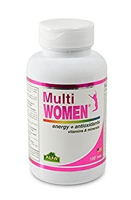 Multi Women 100 Tablets - Dietary Supplement - Vitamins & Minerals - Herbs - Amino Acids - Antioxidants