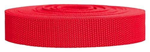 Strapworks Heavyweight Polypropylene Climbing Webbing, Red, 1