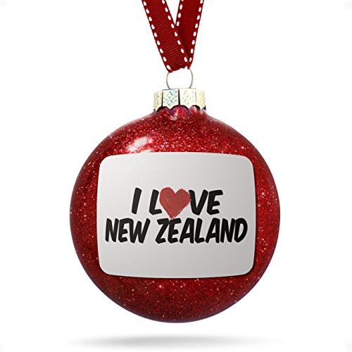 Christmas Decoration I Love New Zealand - Zealand New Glasses