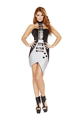 Rock Pop Star Guitar Dress Costume
