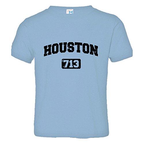 Toddler Houston 713 Area Code Distressed HQ Tee-LtBlu-5/6