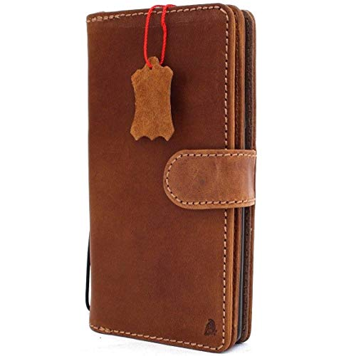 Genuine Leather Samsung Galaxy Note 9 Book Case Wallet Cover Handmade Detachable Luxury Cards Slots Magnetic Daviscase 1948 note9 jafo ()