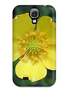 Hot New Yellow Flowers Case Cover For Galaxy S4 With Perfect Design