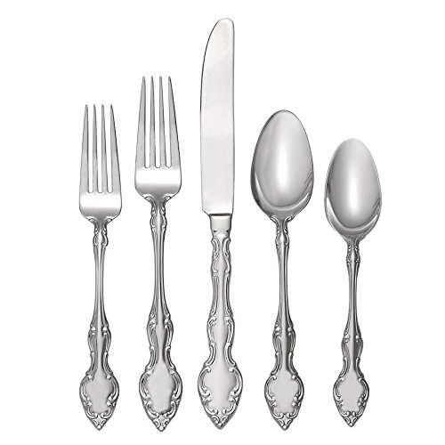 Oneida Mikayla 45 Piece Casual Flatware Set, 18/0 Stainless, Service for 8 (Box Oneida Silverware)