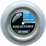 ヨネックス(YONEX) バドミントン ストリング BG66 ULTIMAX  ロール200m  メタリックホワイト BG66UM-2