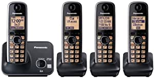 Panasonic KXTG4114CB DECT 6.0 PLUS Expandable Four Handset Cordless Phone
