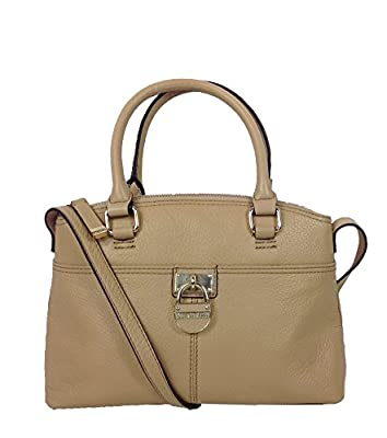 Calvin Klein Modena Mini Leather Satchel, Nude