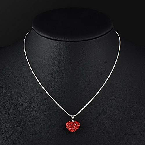 Werrox Women Crystal Heart Beaded Silver Plated Necklace Fashion Jewelry Pendant Chain | Model NCKLCS - 22238 | -