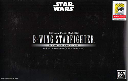 Star Wars Bandai SDCC 2018 B-Wing Starfighter Limited Edition 1/72 Model Kit