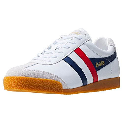 Gola Harrier Mens Trainers White Navy Red - 45 EU