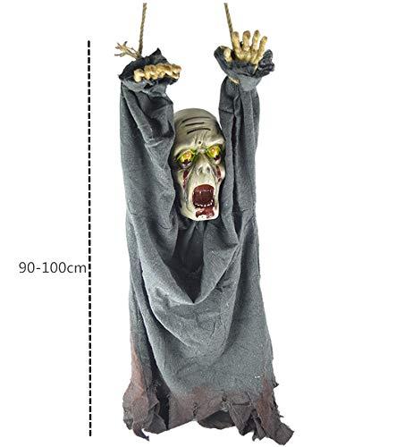 Morbuy Halloween Voz Decoracion, Tenebrosos Colgantes Zombie Colgante Fantasmas Horror Props Decoracion para Fiesta (Azul Negro): Amazon.es: Hogar