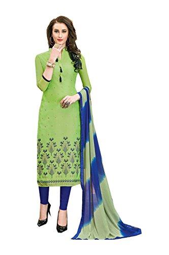 Asmafashion Store Indian Women Designer Partywear Ethnic Traditonal Green Anarkali Salwar Kameez by Asmafashion Store