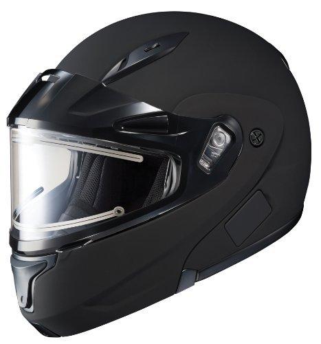 HJC CL-MAX2BTSN Modular Bluetooth Snow Helmet Framed Electric Shield (Matte Black, Large) ()