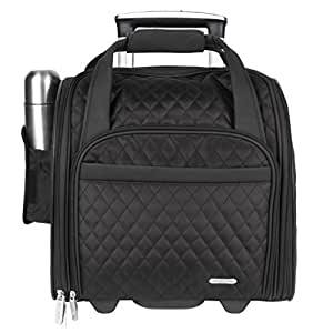 Travelon Wheeled Underseat Carry-On with Back-Up Bag, Black (Black) - 6454-Black-One Size