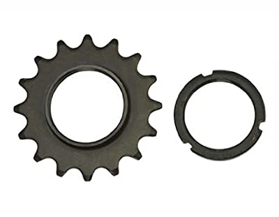 16T Track Fix Cog 1/8 Black. Bike cog, bicycle cog for track bike, fixies, fixed gear bikes