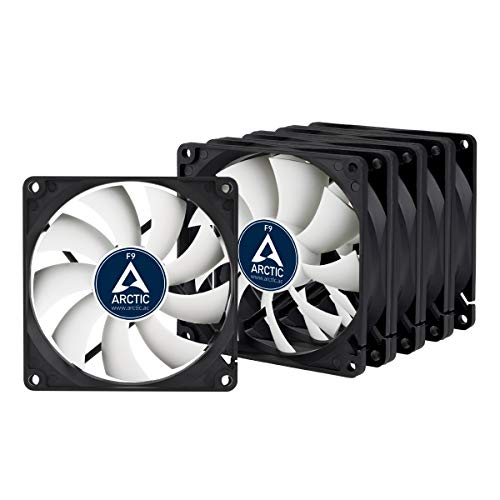 ARCTIC F9-92 mm Standard Case Fan - Five Pack | Ultra Low Noise Cooler | Silent Cooler with Standard Case | Push- or Pull Configuration Possible