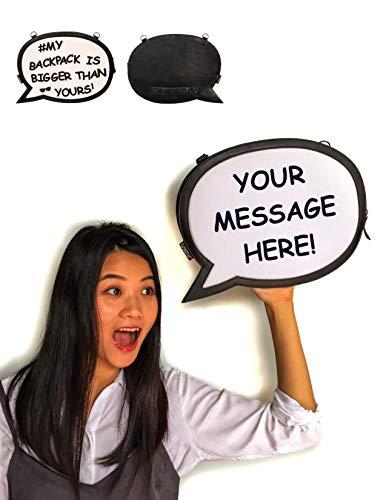 - FYDELITY- Caption Case SELFIE Bag BIG WORDS | Changeable Velcro Letters Photo Booth Teen Gift