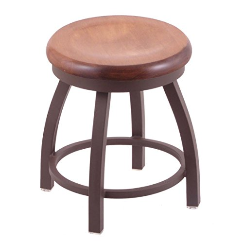 Trica Metal (Holland Bar Stool Co. 802 Misha Vanity Stool with Bronze Finish and Swivel Seat, 18