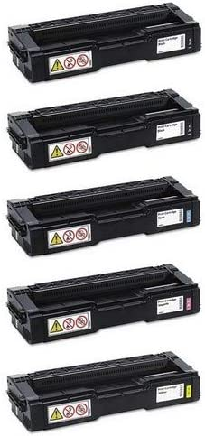 SuppliesMAX Compatible Replacement for Ricoh Aficio SP-C220//240 Toner Cartridge Combo Pack 2-BK//1-C//M//Y Type 220 406042B1CMY