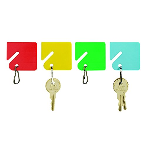 STEELMASTER Slotted Rack Key Tags, 20 Pack, Assorted Colors (2013004W47)