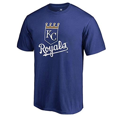 Outerstuff MLB Youth 8-20 Team Color Cool Base Polyester Performance Primary Logo T-Shirt (Medium 10/12, Kansas City Royals)