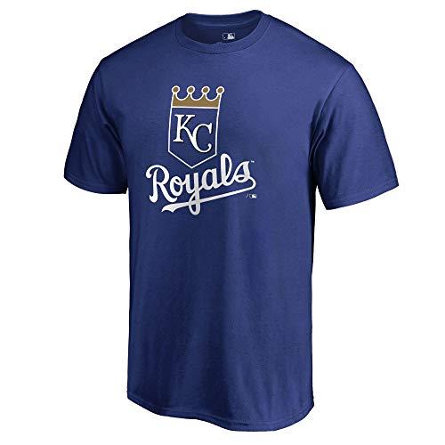 Outerstuff MLB Youth 8-20 Team Color Cool Base Polyester Performance Primary Logo T-Shirt (Medium 10/12, Kansas City - Royals Cool City Kansas