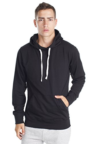 Fleece Factory Mens Pullover Sweatshirt Hoodie with Fashion Fit in French Terry,...