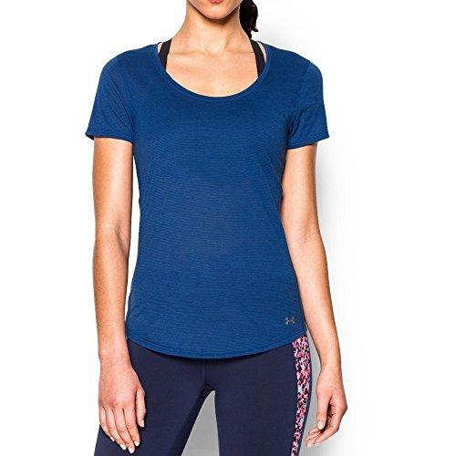 Under Armour Women's Streaker Short Sleeve, Cobalt/Cobalt, Medium