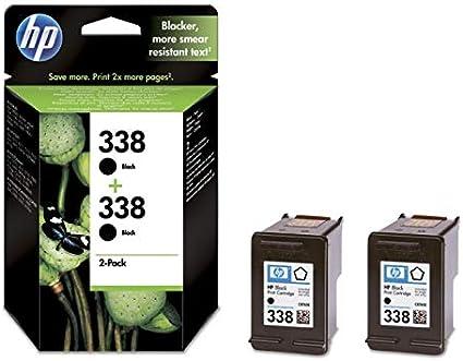 HP 338 2-pack Black Original Ink Cartridges - Cartucho de tinta para impresoras: Amazon.es: Oficina y papelería