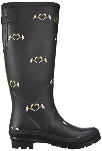 Braun Mujer Saddle Terrier Tom Fox para Agua de Y Dark Botas Wellyprint Joule q7xv1q08