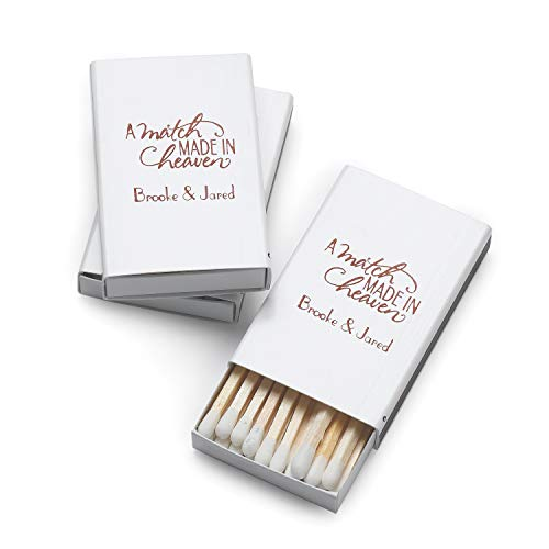 1450pk A Match Made in Heaven - Box Matches-Favors by Carlson Craft (Image #1)
