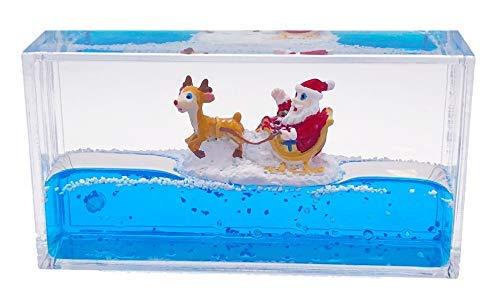 Universal Specialties Liquid Wave Paperweight Desk Toy (Santa Claus & -