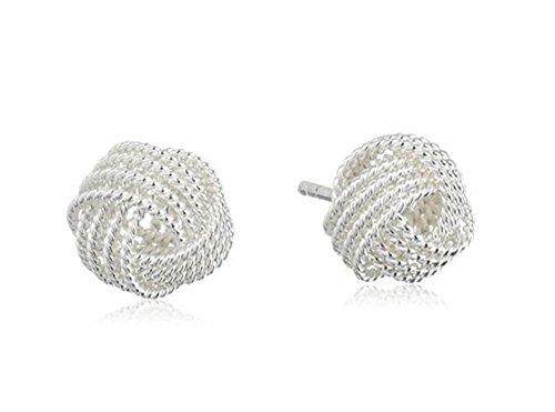 NABTYJC Sterling Silver Twisted Love Knot Stud Earrings.