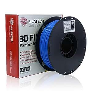 Filatech PLA Filament, Lum. Blue, 1.75mm, 1KG