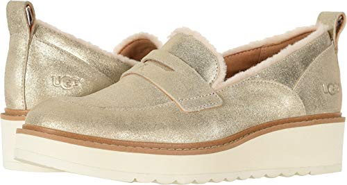 UGG Women's Atwater Metallic Loafer Gold 11 B US for sale  Delivered anywhere in USA