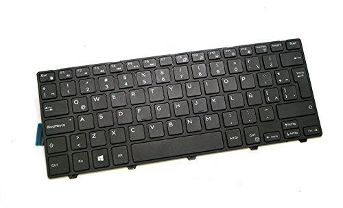 Y2PRD SPANISH TECLADO Genuine OEM Dell Inspiron 14 5458 5447 5448 3451 3452 3442 3441 3443 Vostro 3458 Latitude 3450 3460 3470 Laptop Notebook NSK-LQ0BC 1E QWERTY Keyboard Latin Backlit keys TCKCW