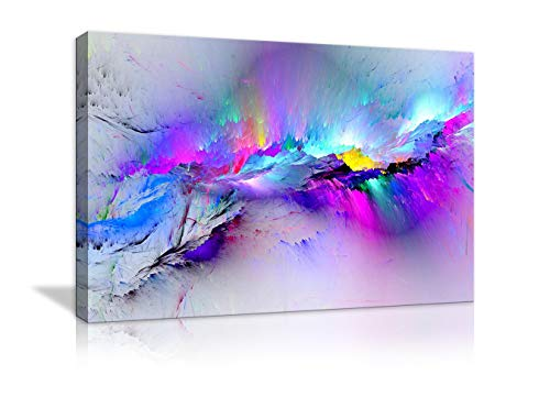 AMEMNY Wall Pictures Abstract Purple Abstract Canvas Wall Art Clouds Colorful Canvas Art Home Decor Artwork Gifts for Living Room Framed Ready to Hang