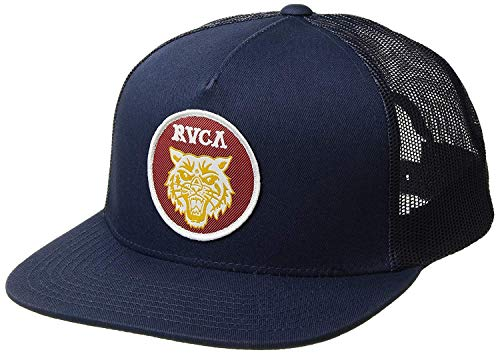 RVCA Men's Tiger Patch MESH Back Trucker HAT, Navy, One Size