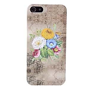 Estuche rígido elegante diseño del patrón de flor para el iphone 5/5s