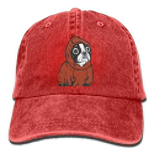 XF-Caps Gorra de Beisbol Unisex Boston Terrier Red Washed Cotton ...