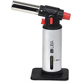 Culinary Torch - Creme Brulee Torch - Kitchen Torch - Best Creme Brulee Torch - Food Torch - Cooking Torch - Cooking Blow Torch - Brulee Torch - Butane Torch For Cooking - Blow Torch (Silver)