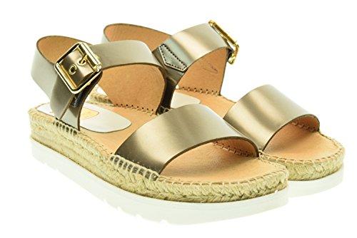Kanna Doha Sandalen aus Leder, Damen Metallic Gunmetal