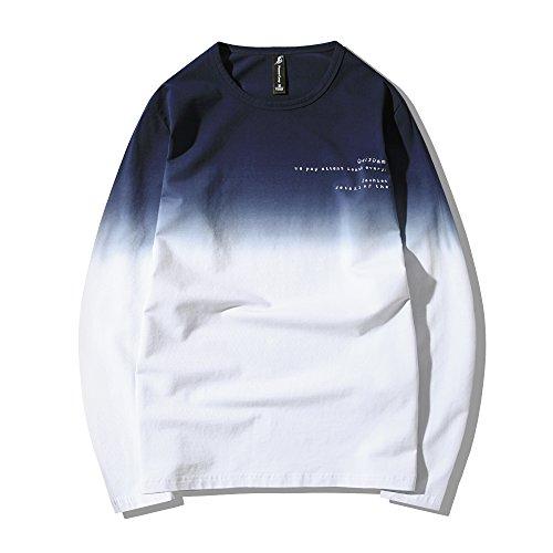 パイオニア キャンプ(Pioneer Camp)メンズ 長袖Tシャツ グラデーション色 カットソー ナチュラル カジュアル 丸襟 面白いtシャツ 611907
