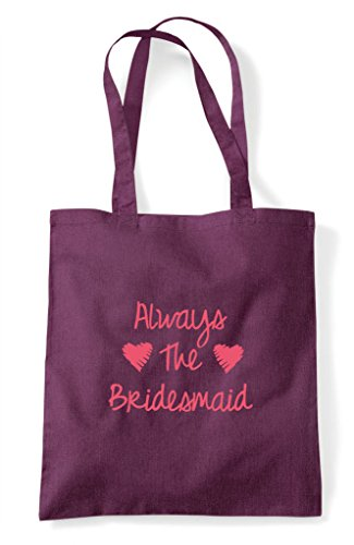 Always The Do Bridesmaid Personalised Party Hen Plum Shopper Bag Customised Tote qw6Hfxa4n