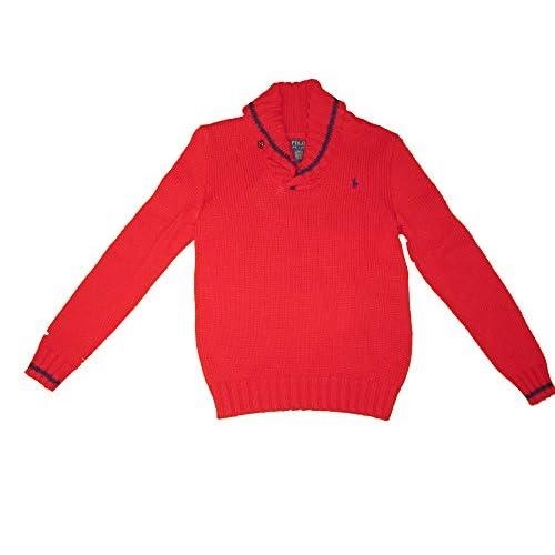 wholesale Ralph Lauren Boys Martin Red Shawl Collar Sweater save more