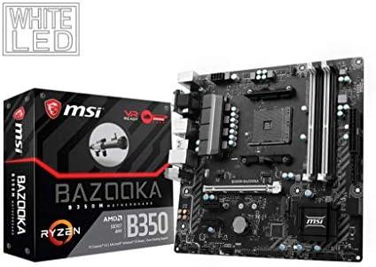 MSI B350M Bazooka Arsenal - Placa Base (AMD AM4 Chipset B350, DDR4 ...