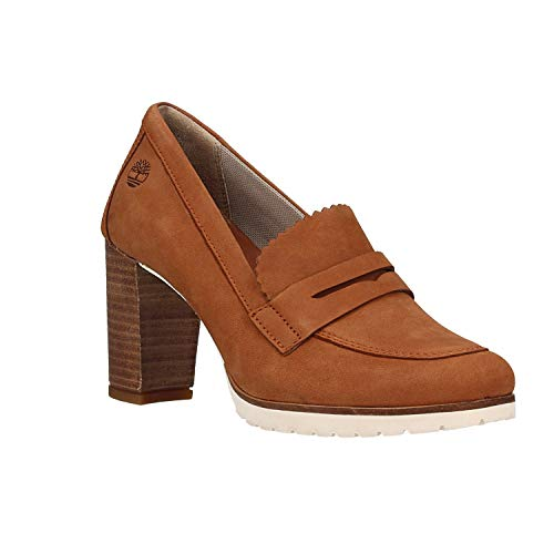 Zapatos Marron Tacón para de Mocassin Timberland Anne Leslie Mujer 8qxwHxBt